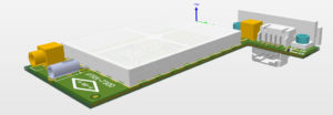 3D CAD model as background
